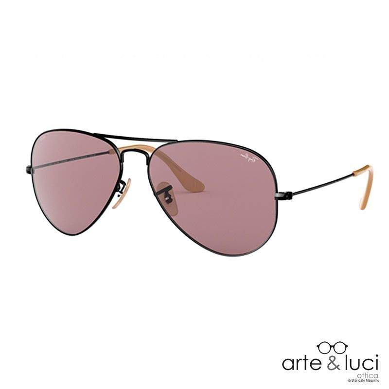 vendita online Ray-Ban Aviator Classic 3025 9066/Z0 Evolve Lenses Black/Photochromic Violet